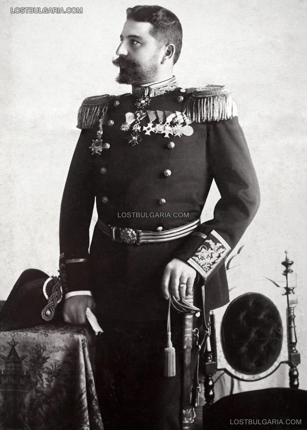 Портрет на капитан I ранг Станчо Димитриев като началник на флота, София 1908 г.