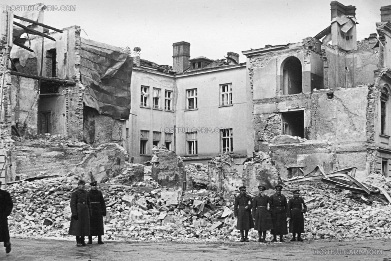 Резултат с изображение за бомбардировка на София
